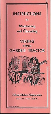 Viking Twin Instructions for Maintaining & Operating, Reproductions