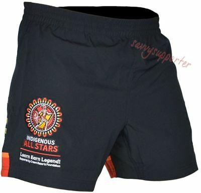 """Indigenous All Stars 2016 6"""" Training Gym Shorts 'Select Size' S-7XL BNWT"""