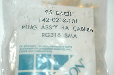 JOHANSON RG316SMA SMA Right Angle Connector New Lot Quantity-2