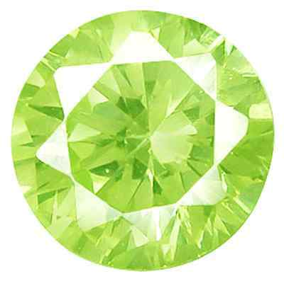 Cubic Zirconia Bright Apple Green Round AAA Rated CZ Loose Stones (1mm - 15mm)