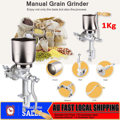 NEW Hand Manual Grinder Stainless Steel Corn Grain Wheat Nuts Flour Mill Grind