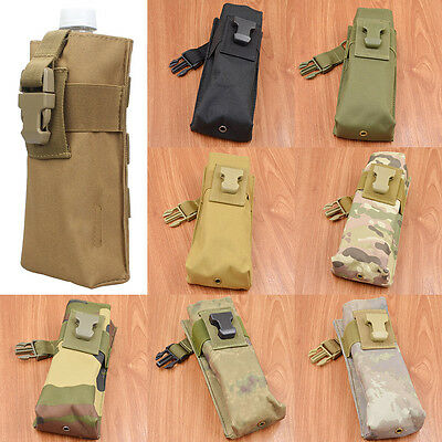 Outdoor Tactical Water Bottle Bag Kettle Pouch Holder Military Hiking Bag New