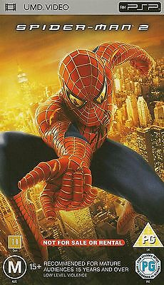 Spider Man 2 Psp Umd Video Movie Sony Playstation Action Moive