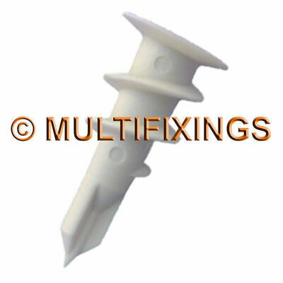 1000pcs 14mm x 32mm Nylon Hollow Wall Anchor Plasterboard Fixings