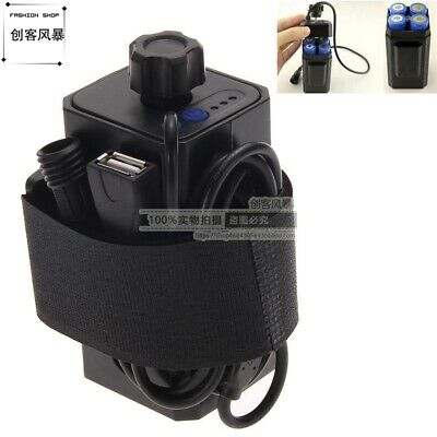 4 x 18650 USB Water Resistant Battery Pack Case House For Bike Bicycle Lamp
