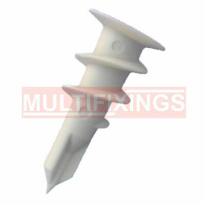 5000pcs 14mm x 32mm Nylon Hollow Wall Anchor Plasterboard Fixings