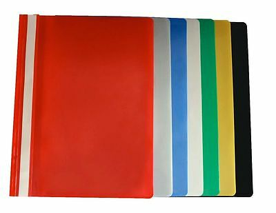 A4 Plastic Project Report Files Folders 2 Prong - 6 Colours Available Free P&P