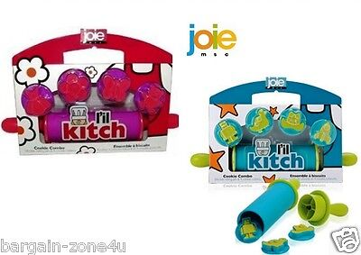 Joie L'il Kitch Silicone Rolling Pin &4 Cookie Cutters Kids Baking Cooking Set