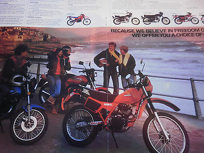 "HONDA 125cc RANGE XL / CT / MTX # ORIGINAL VINTAGE MOTORCYCLE ADVERT # 11"" x 16"""