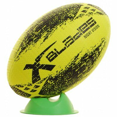XBlades Attitude Rugby Ball Yellow and Black