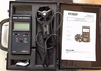Extech FieldMaster 451112 Thermo-Anemometer in case w/ vane & instructions WORKS