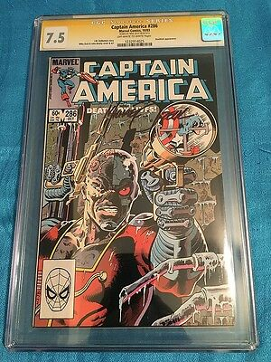 Captain America #286 - Marvel - CGC 7.5 - Signed by Mike Zeck