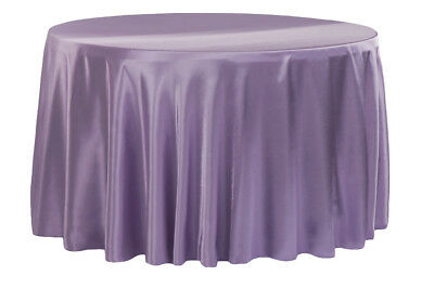 """10 PACKS 90"""" inch Round SATIN Tablecloth WEDDING 25 COLORS table cover USA SALE"""