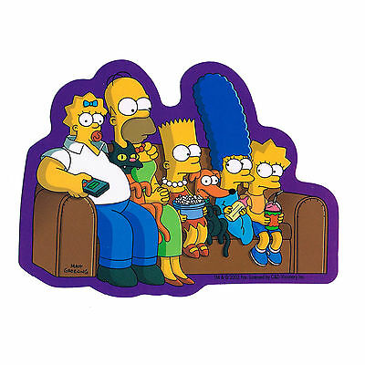 STICKER - The Simpsons Switched Heads Bart Homer Marge Lisa  Decal  SB11