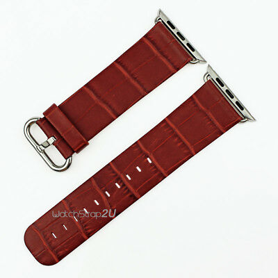 Genuine Leather Watch Strap WristBand Replacement For  iWatch 38/42mm Gifts