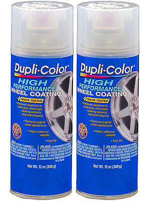Pack of 2 Duplicolor Wheel Paint Clear, 2x-HWP103