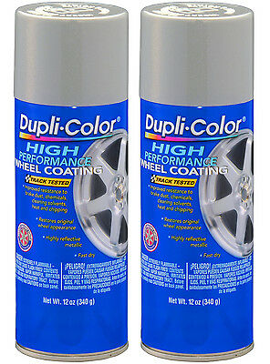 Pack of 2 Duplicolor Wheel Paint Silver, 2x-HWP101 HWP101-KIT1