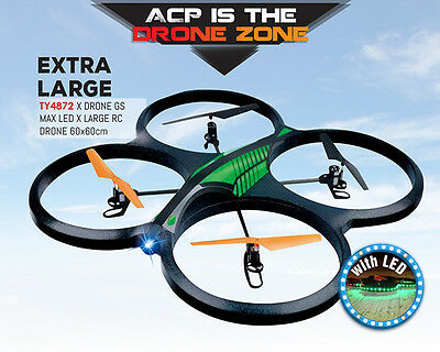 Quadcopter Drone X-Drone GS MAX RC Gyro Stunt Drone with LEDs 2.4GH