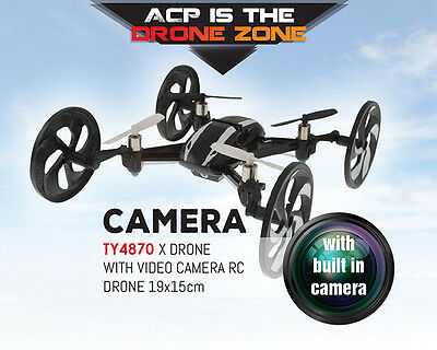 Quadcopter Drone Video Camera X-Drone All Road RC 18.5x18.5cm 2.4GHz