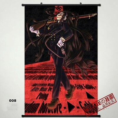 Hellsing Wall Poster Scroll Home Fabric Decor Japanese Anime Cosplay 16