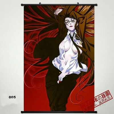 Hellsing Wall Poster Scroll Home Fabric Decor Japanese Anime Cosplay 19