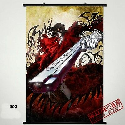 Hellsing Wall Poster Scroll Home Fabric Decor Japanese Anime Cosplay 21