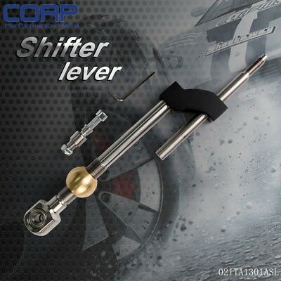Adjustable 100mm Height Dual Bend Stainless Steel Short Shifter For Honda Civic