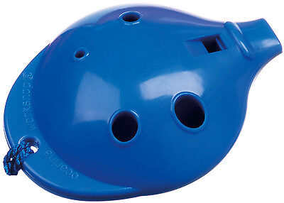 Plastic OCARINA Blue 4-hole & How-to-Play card; Easy-to-play Musical Instrument