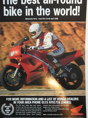 "HONDA VFR750 # ORIGINAL VINTAGE MOTORCYCLE ADVERT # 11"" x 8"""