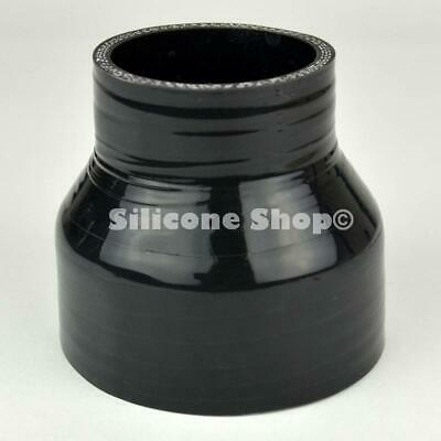 Silicone Hose Straight Reducer Black PICK SIZE Silicone Shop (Black Core)