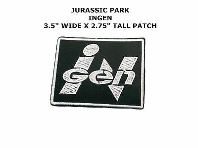 """Jurassic Park Movie """"INGEN"""" Embroidered 3.5"""" Iron/Sew-on Logo Patch US Seller"""