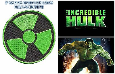 "Marvel Comics Gamma Radiation Logo Embroidered 3"" Patch Sew/Iron-On USA Seller"