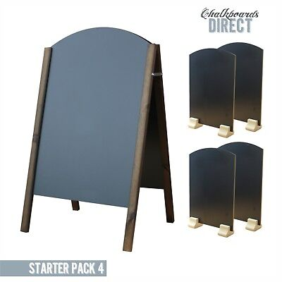 Large Wooden Pavement Sign A-Board Chalkboard Liquid Chalk (Starter4)