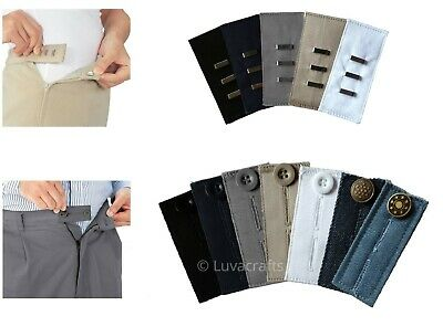 Nortexx Unisex Waist Band Extender Trousers Jeans Skirts Maternity Button Hooks