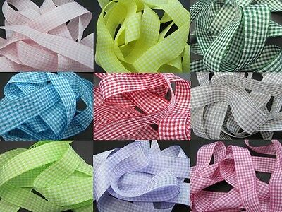GINGHAM Ribbons 5mm, 10mm, 25mm
