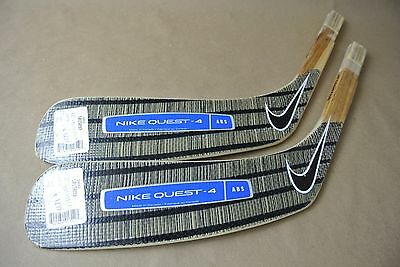 Lot of 2 NIKE Quest 4 ABS Legwand Hockey Stick Replacement Blades JR LEFT