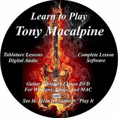 Tony MacAlpine Guitar TABS Lesson CD 45 Songs + Backing Tracks + BONUS!!