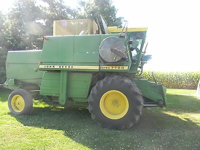 JOHN DEERE 7700 Combine Hydrostatic Diesel Turbo Nice Machine!!