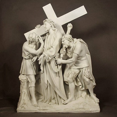 """Jesus Given the Cross Garden Sculpture Statue by Orlandi Statuary-58"""" High"""