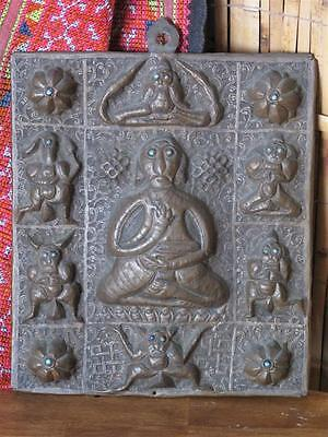 Old Tibetan Copper Wall Hanging…  with Turquoise Eye's.. great collection piece