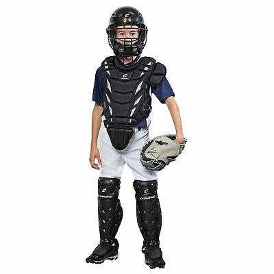 NEW CHAMPRO Helmax Youth Ages 9-12 Complete Black Catcher's Set w/ Free Shipping