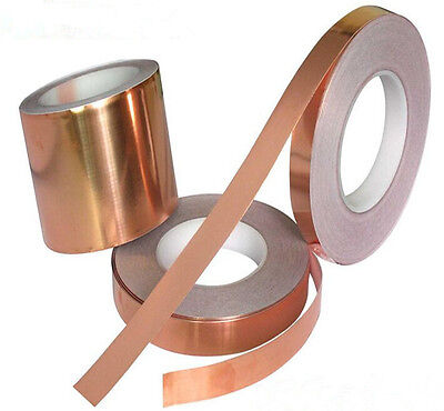 10mmX 20m 1Roll  EMI Copper Foil Shielding Tape Conductive Self Adhesive Barrier