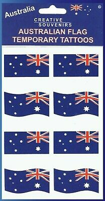 Australian Flag Temporary Tattoos Australia Day FREE AUSSIE STICKER INCLUDED