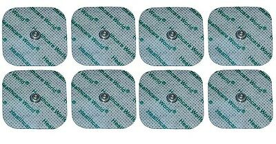 Healthcare World® TENS Electrode Square Studded Pads for Compex Machines x8