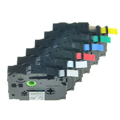 6 Color Combo Set for Brother TZ TZe 131 231 431 531 631 731 Label Tape P-Touch