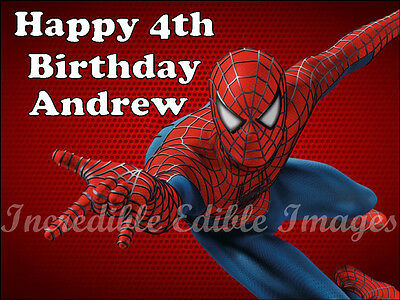 Spiderman Personalised Edible Cake Toppers Party Decoration