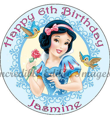 Snow White Personalised Edible Cake Toppers Party Decoration