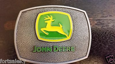 Antique silver color John Deere Belt Buckle Farming Construction