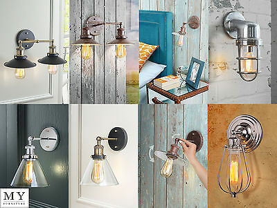 Vintage Industrial Loft Metal Double Sconce Bulkhead Wall Light Wall Lamp