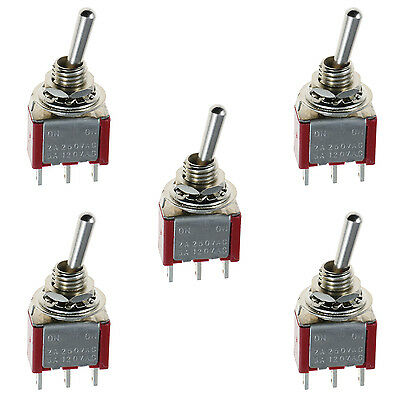 5 x On/On Mini Miniature Toggle Switch Car Dash SPDT